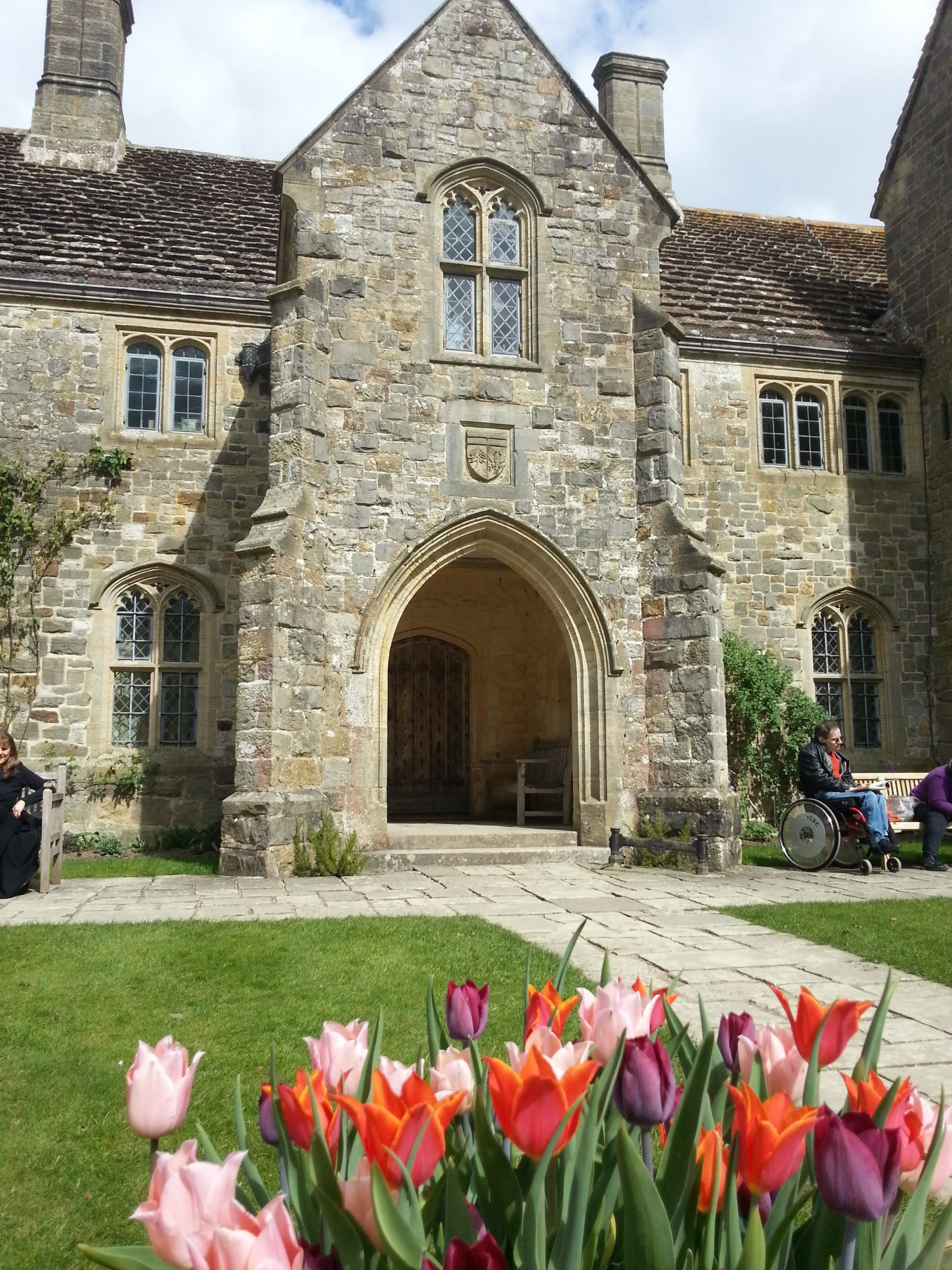 Nymans with tulips