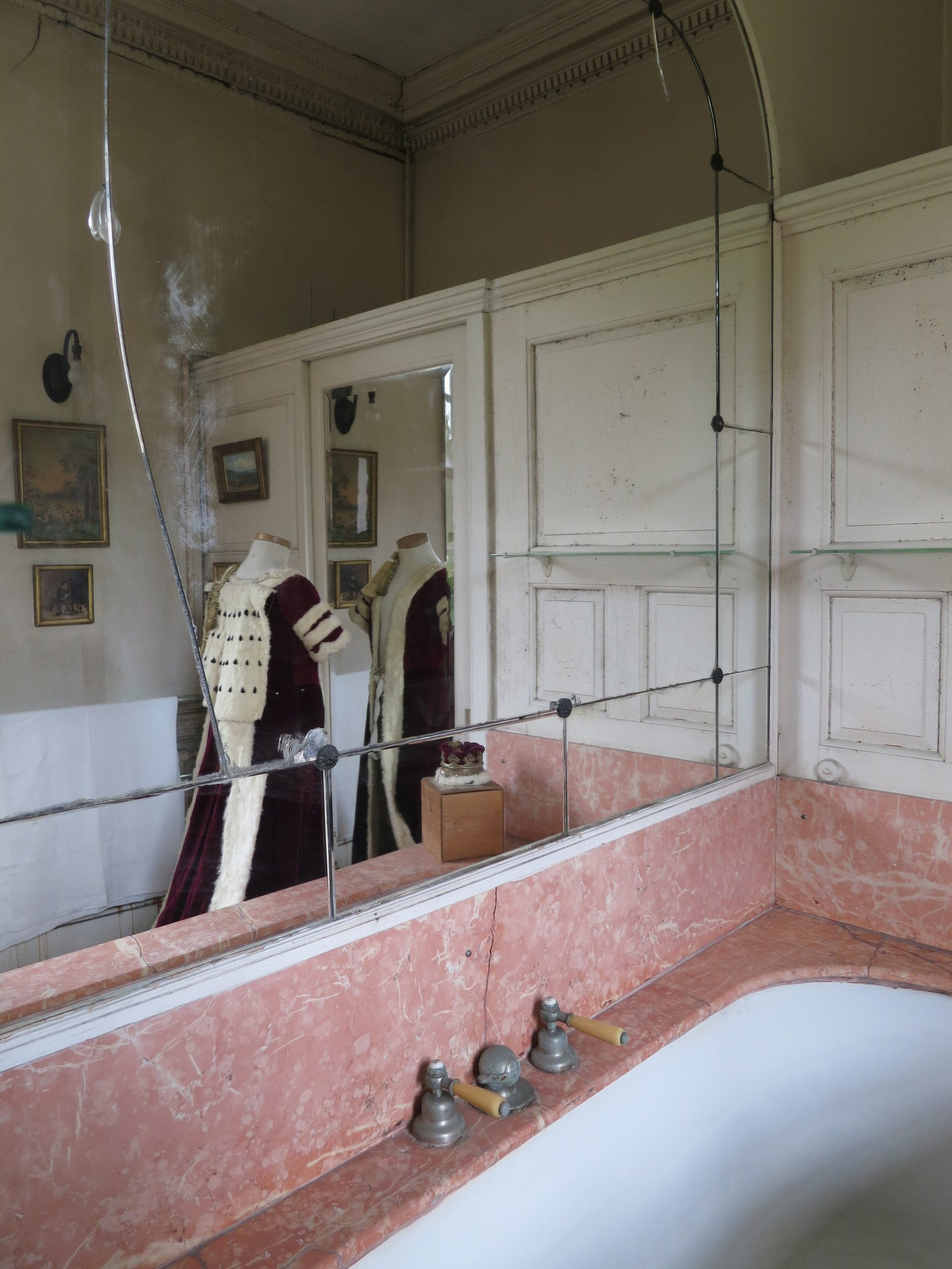 Bathroom with Coronation robes and coronet