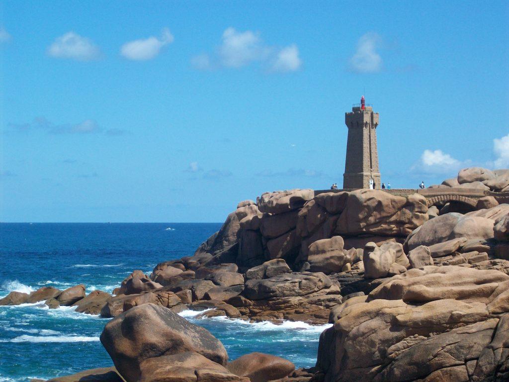 Rose Granite Coast, Brittany, phare