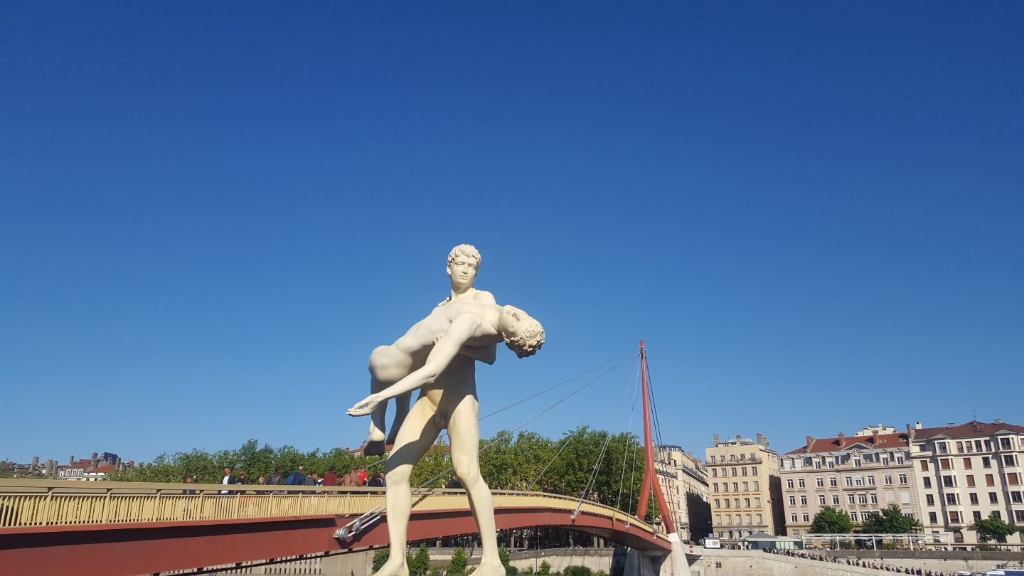 STATUE ON THE BANKS OF THE SAONE