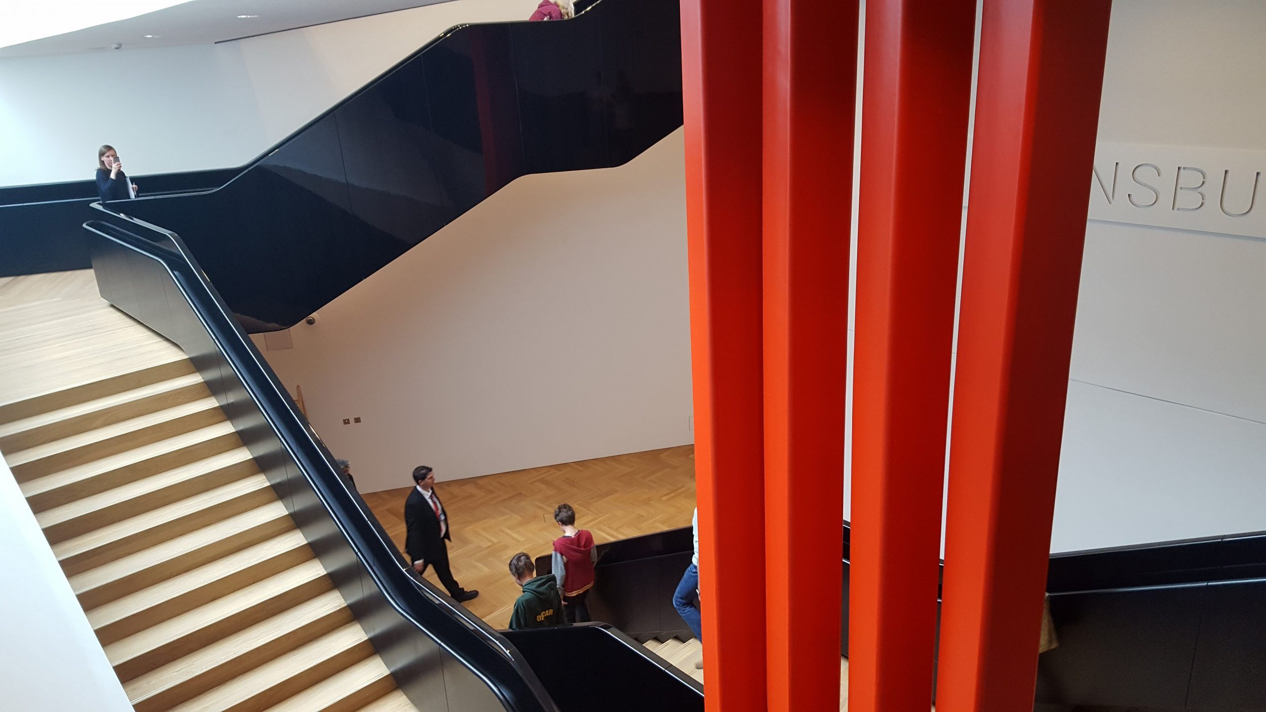 Up stairs and down stairs in the new V&A entrance