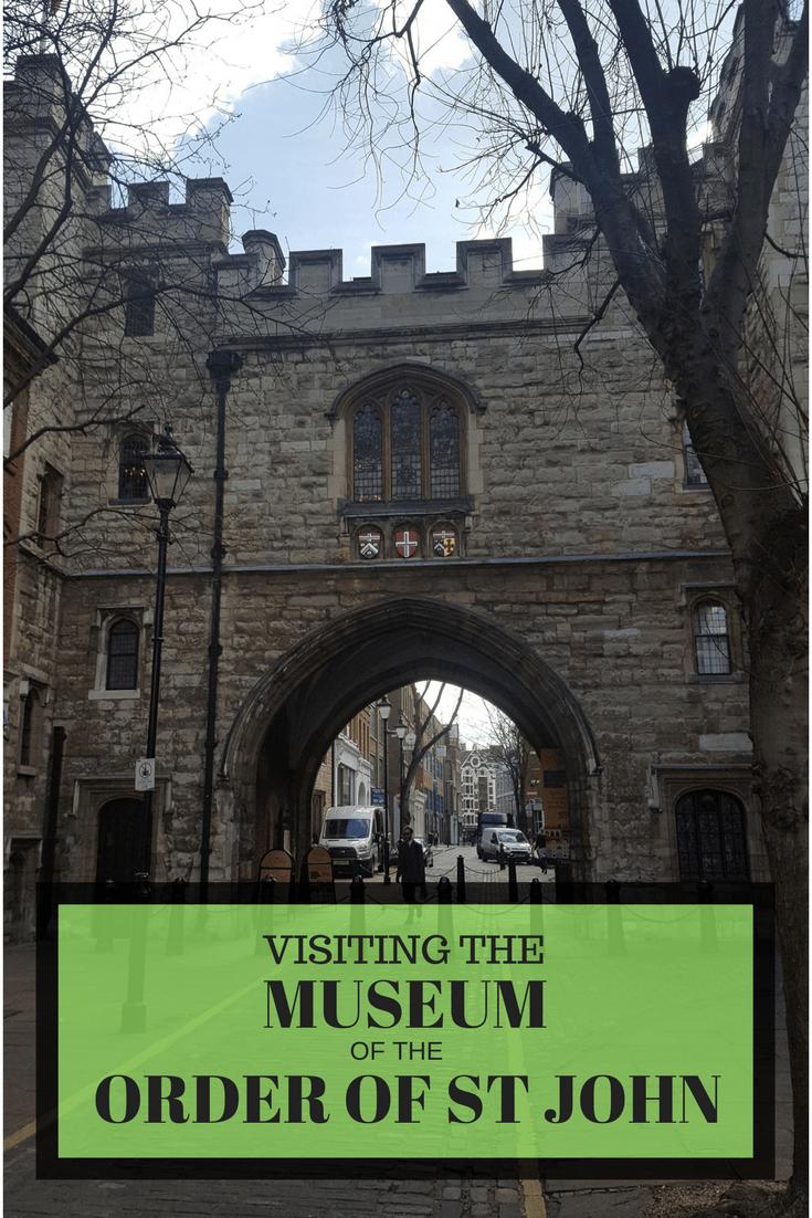 MUSEUM OF THE ORDER OF ST JOHN CLERKENWELL LONDON