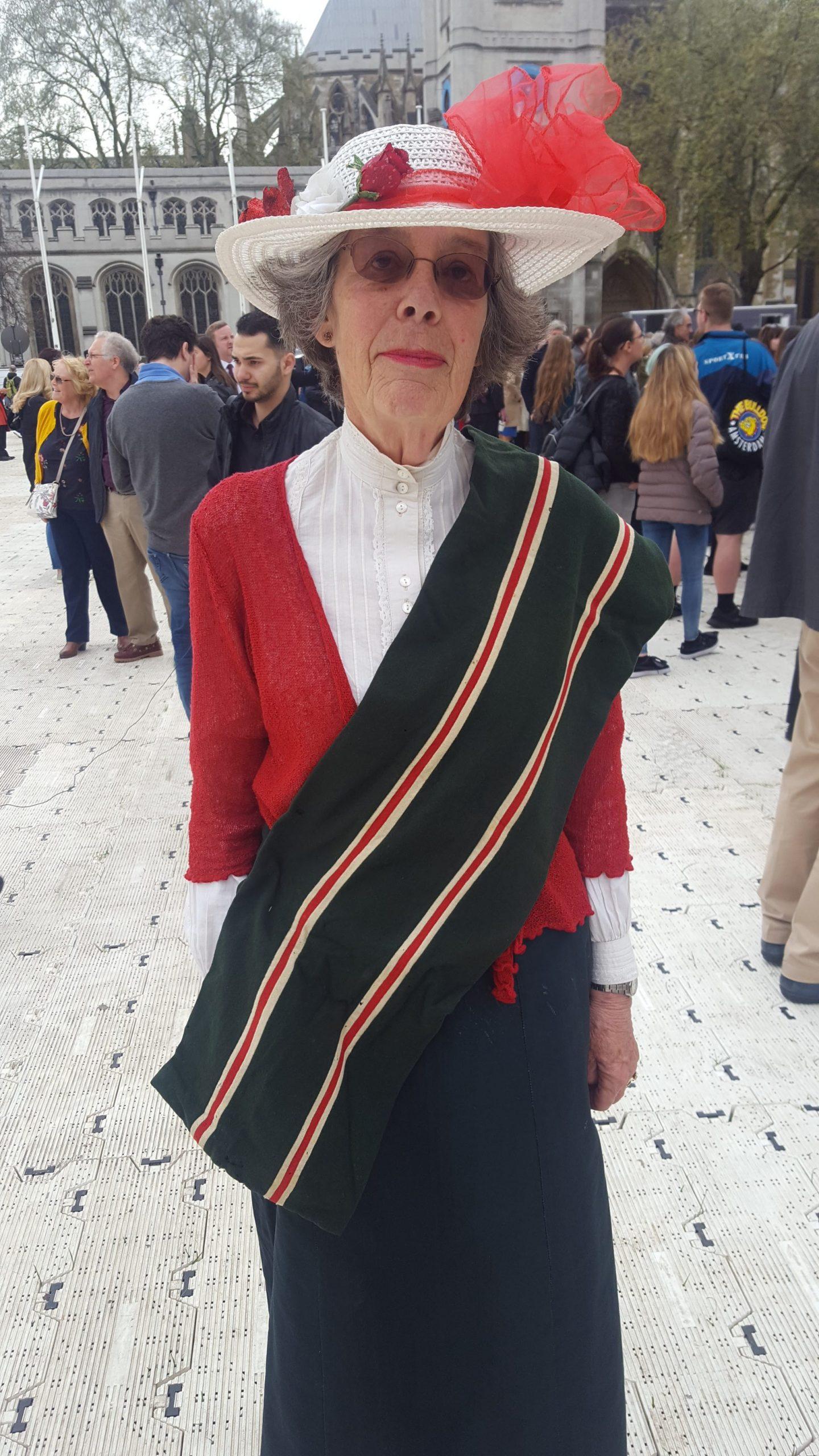Suffragist granddaughter Parliament Square