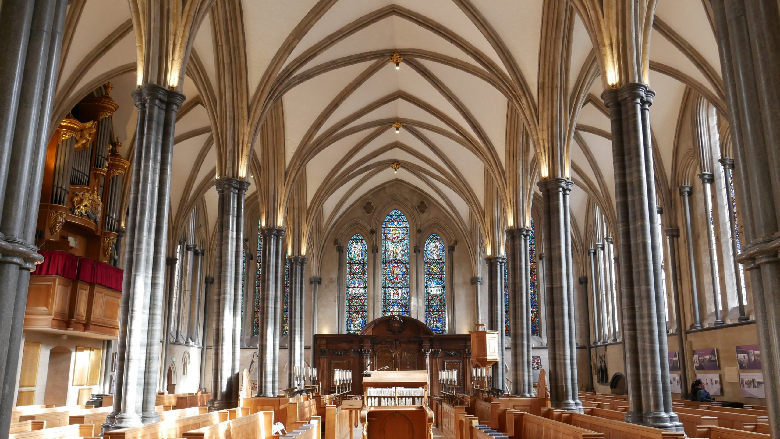 Temple Church London interior view of Chancel
