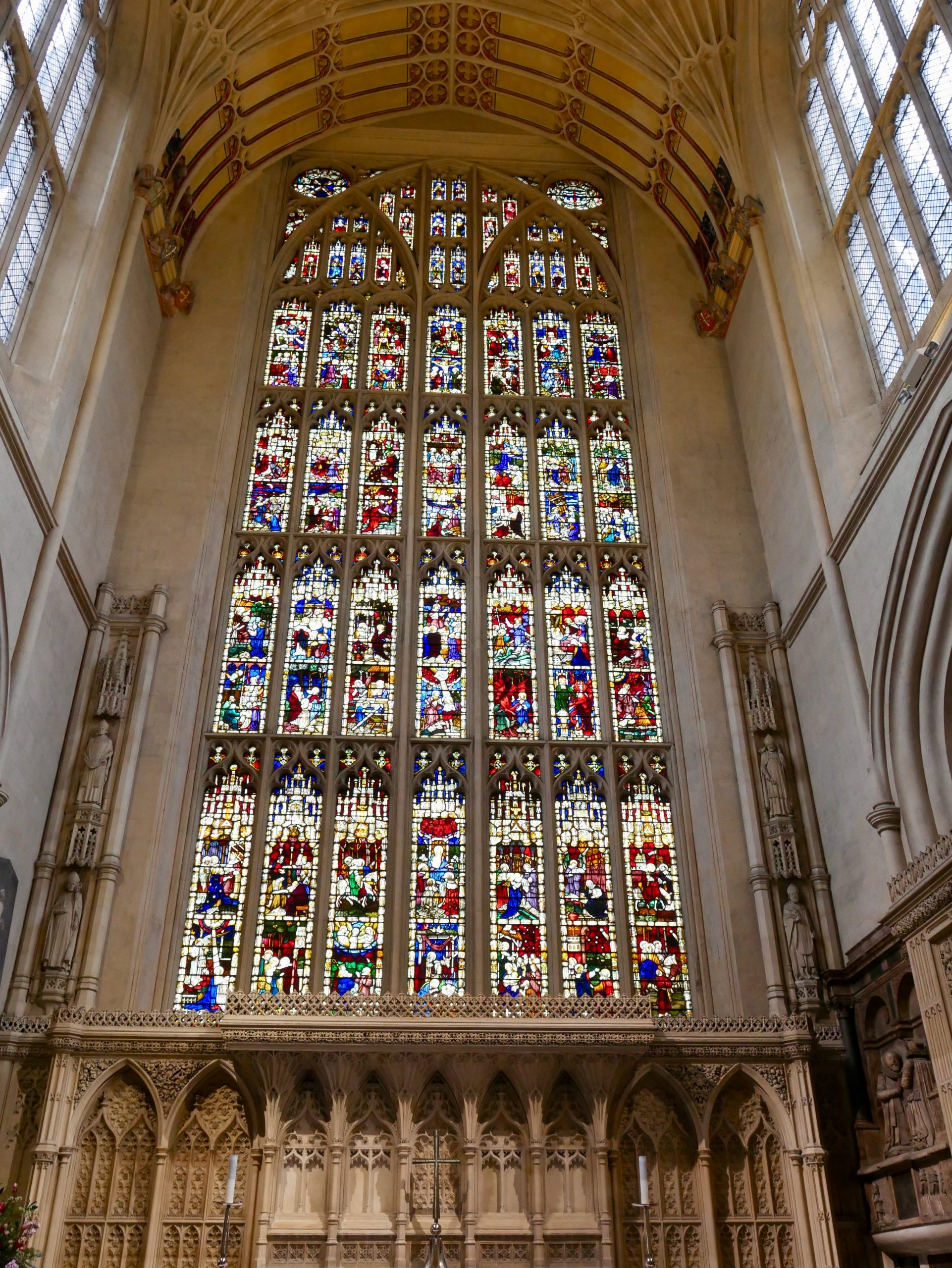 Bath Abbey east window